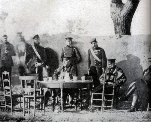 Wrangel and his honorary staff in France, 1870