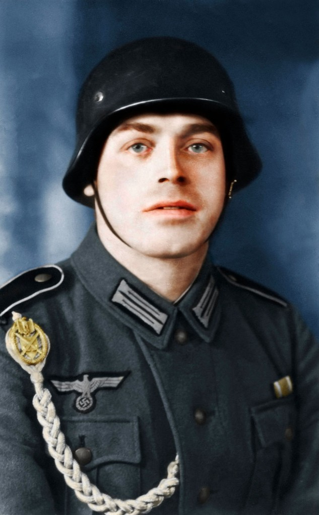 Brought by to life - Colorized portrait showing Alois in 1940.