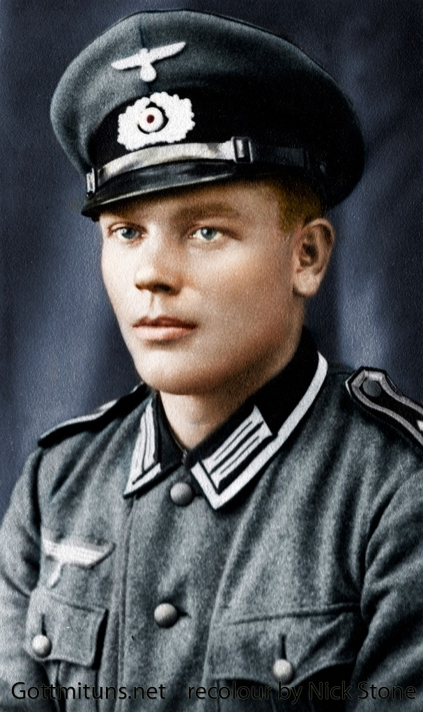 Heinrich Gilgenbach - another fantastic recolored photograph done by Mr. Nick Stone