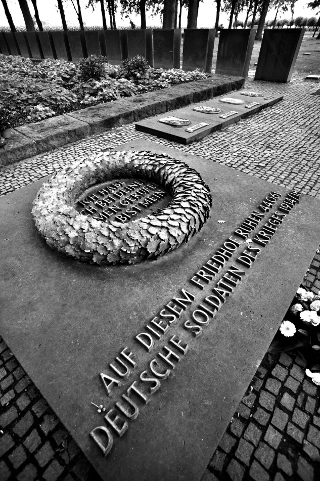 "Memorial at Langemarck -   ""I have called you by name and you are mine"""