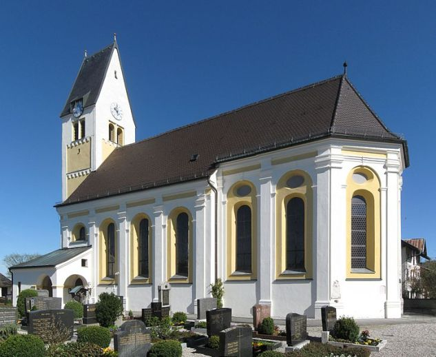 The church of St. Jacob, in which Michael was baptised.