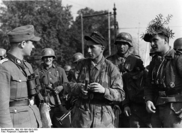 Arnheim, Soldaten von Heer und Luftwaffe und SS-Führer